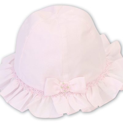 PINK BOW SUN HAT FOR BABIES