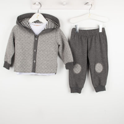 Caramelo 3 Piece Tracksuit in Grey