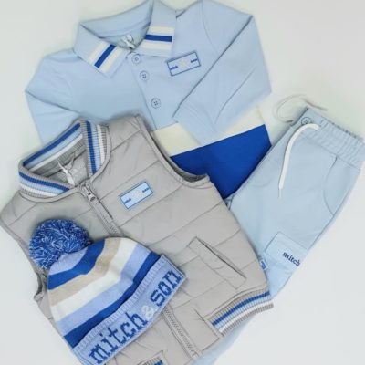 MITCH-AND-SON-POLO-CARGOPANT-GILET-HAT-SET-SKYBLUE