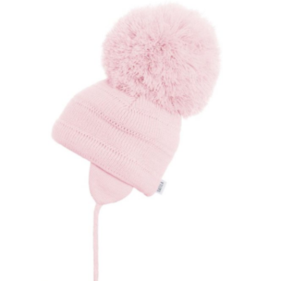 Satila tuva pink big Pom Hat