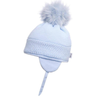 Satila Daisy Blue Faux Fur Pom Hat