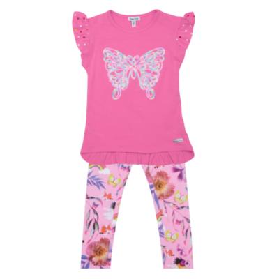 Happy Calegi Rainbow & Butterfly Sequin T-Shirt & Leggings