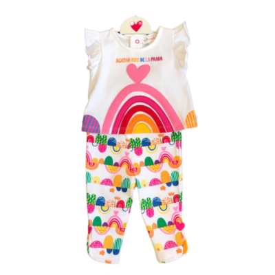 Agatha Rainbow T-Shirt & Legging Set