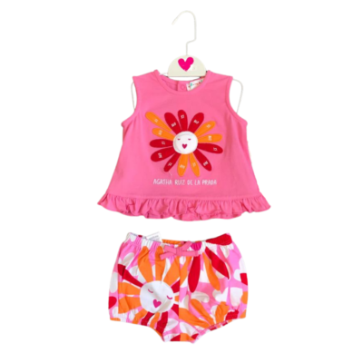 Agatha Sunflower Vest & Short Set