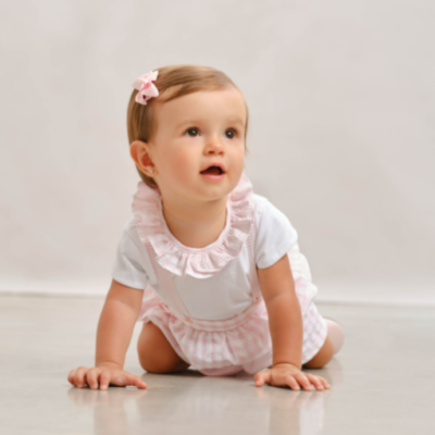 Tutto Piccolo Pink & White Frilly Jam Pant