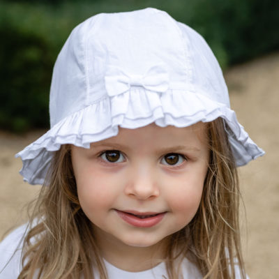 Emile Et Rose Gabby Sun Hat White