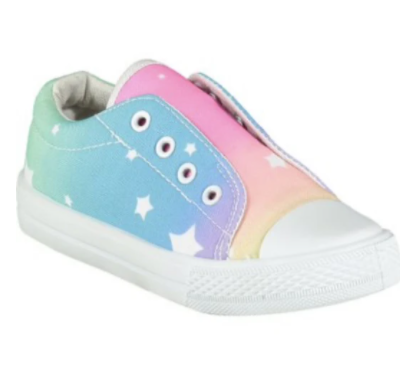 Adee Rainbows & Unicorn Star Laceless Trainers