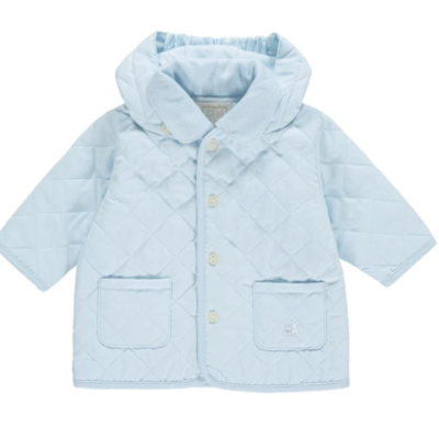 Emile Et Rose Curtis Quilted Jacket In Baby Blue