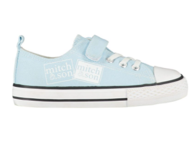 mitch and son blue canvas tariners