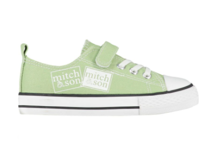 mitch and son green canvas tariners