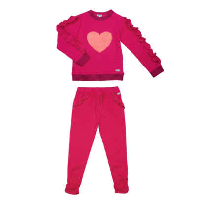 Happy Calegi Noran Sequin Heart Tracksuit