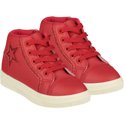 ADEE STAR HIGH TOP TRAINER RED