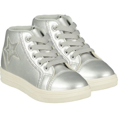 ADEE STAR HIGH TOP TRAINER SILVER