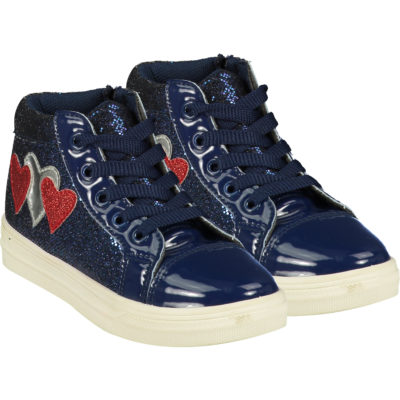 ADEE HEARTS HIGH TOP TRAINER NAVY BLUE