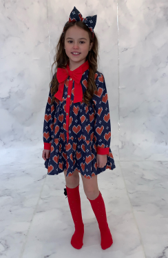 ADEE KNITTED LOVE REMY HEART SHIRT DRESS