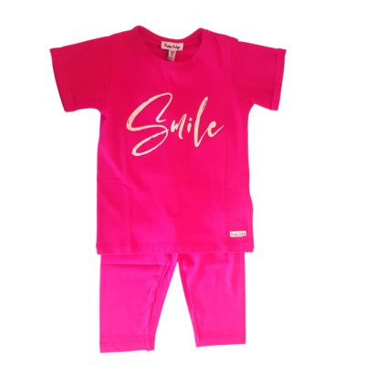 Happy Calegi Glitter Smile T-Shirt & Leggings