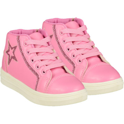ADEE STAR HIGH TOP TRAINER CANDY PINK