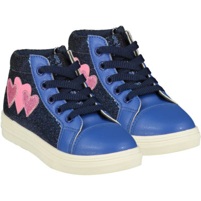 ADEE HEARTS HIGH TOP TRAINER BRIGHT BLUE