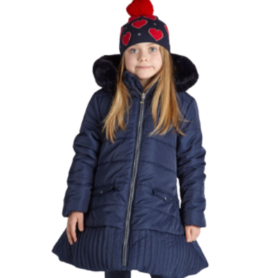 ADEE KNITTED LOVE RILEY COAT IN NAVY